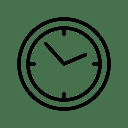 icone de relógio de entrega rápida