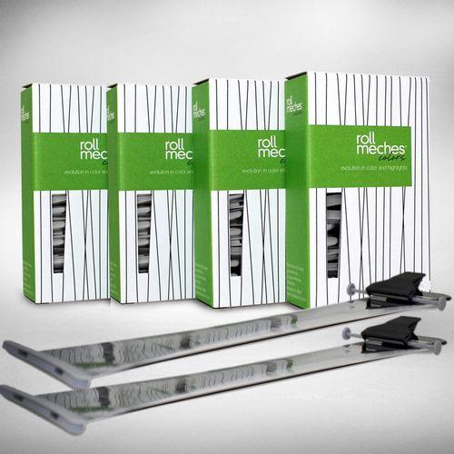 Ferramenta-Para-Coloracao-De-Cabelos-Roll-Meches-Profissional-Kit-4-Caixas