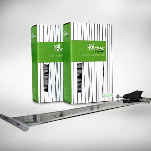 Ferramenta-Para-Coloracao-De-Cabelos-Roll-Meches-Profissional-Kit-2-Caixas