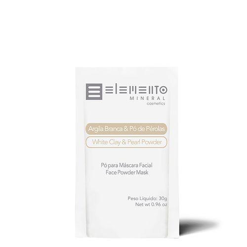 Sache-Mascara-Facial-Argila-Branca-Com-Po-De-Perolas-Elemento-Mineral